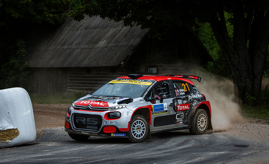 Østberg in South Belgian Rally with Citroën C3 R5