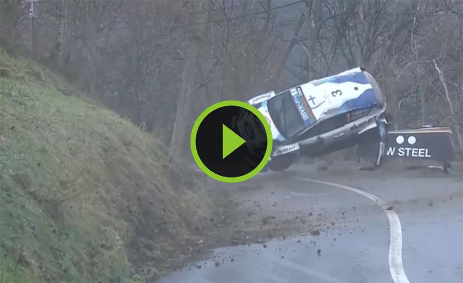Crash Suninen SS1 Rallye Monte Carlo 2021