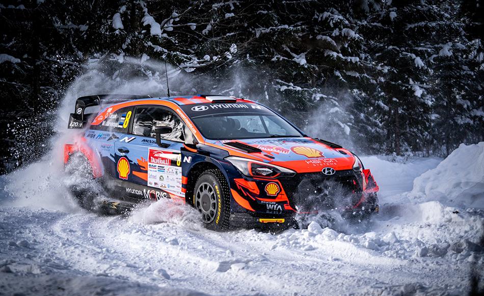 Tänak wins Arctic Rally Finland warm up