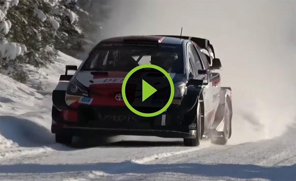 Ogier test WRC Arctic Rally Finland!