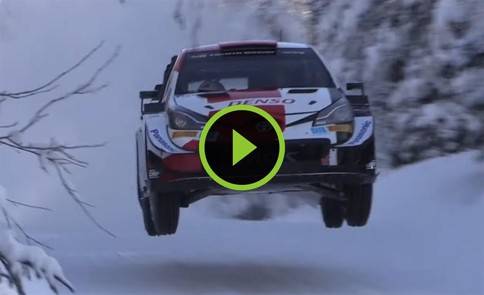 Evans test Arctic Rally Finland