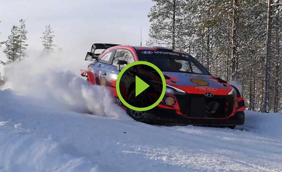 Solberg test Arctic Rally Finland 2021