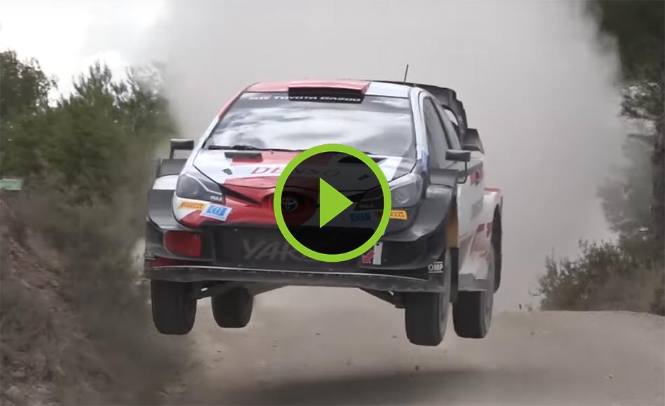 Ogier Gravel testing Toyota Yaris WRC Spain