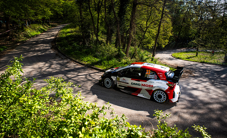 Evans tops Croatia Rally shakedown