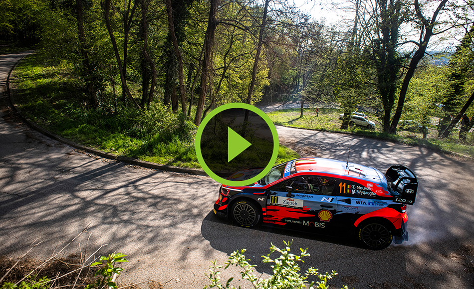 Croatia Rally Shakedown action
